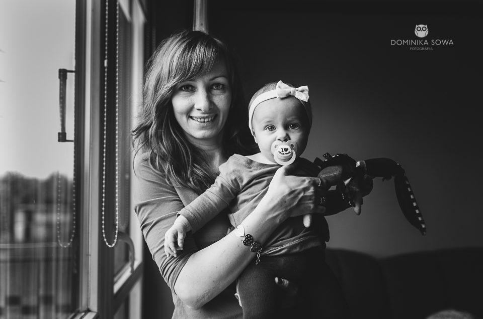 Domowa sesja rodzinna – Agnieszka i Nikita
