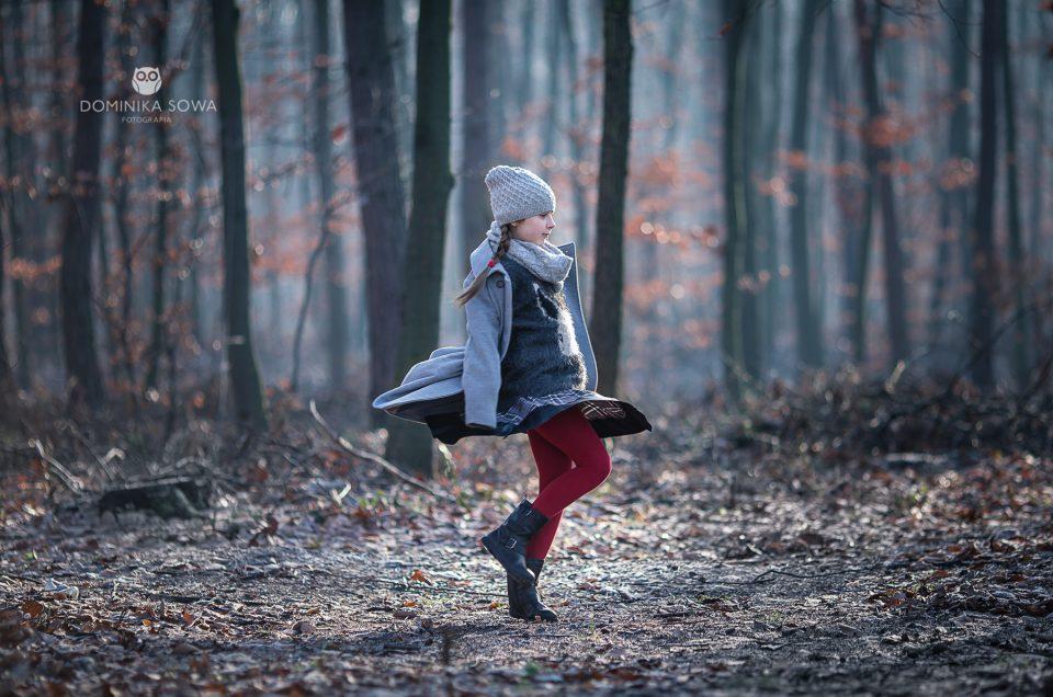 Sesja plenerowa – Puszcza Niepołomicka zimą