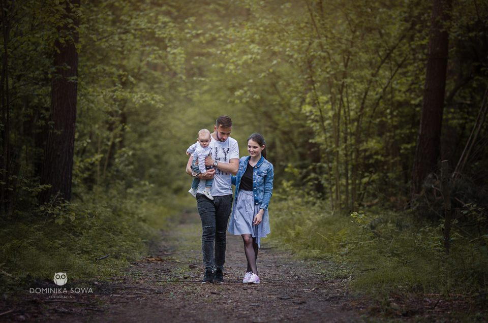 Rodzinny plener fotograficzny z Anią, Jarkiem i Samuelem